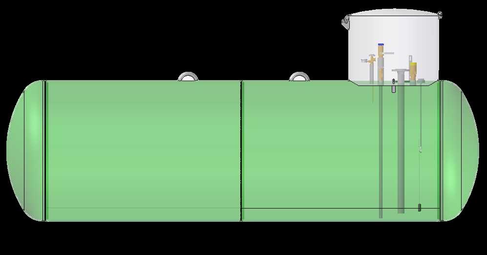Podzemný zásobník pre dober kvapálnej fázy1250mm
