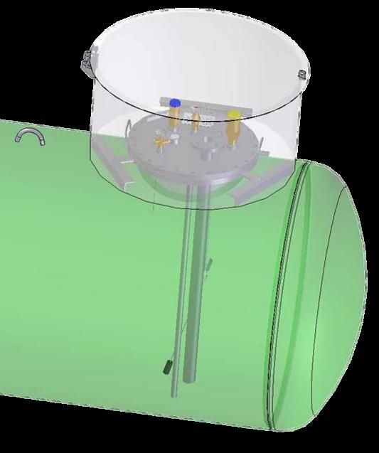 Podzemný zásobník pre odber kvapalnej fázy