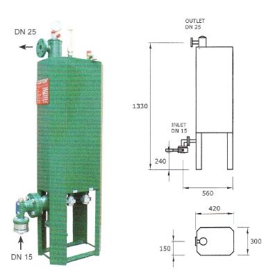 Výparník LPG teplovodný 100