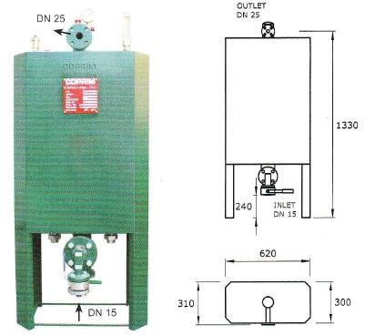 Výparník LPG teplovodný 300