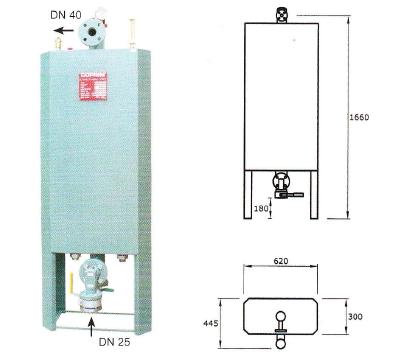 Výparník LPG teplovodný 500