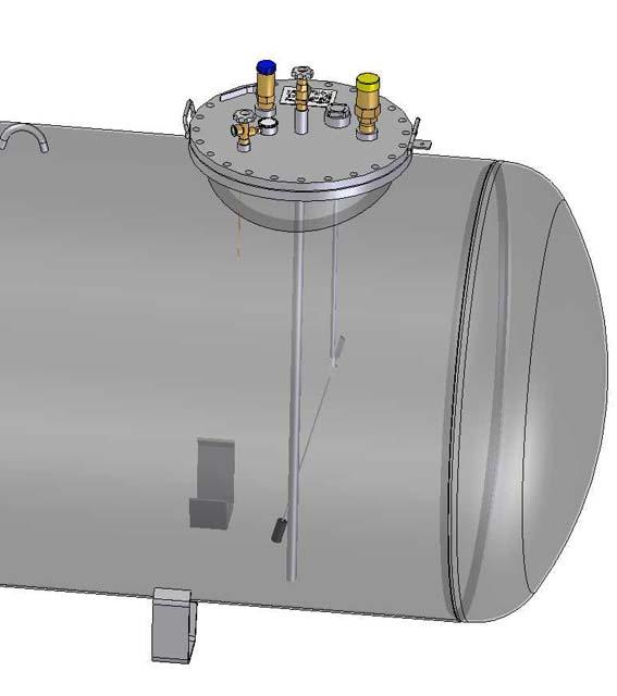 Zásobník pre odber plynnje fázy 1600mm