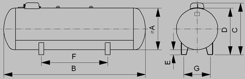 Zásobník lpg pre plynný odber - nákres