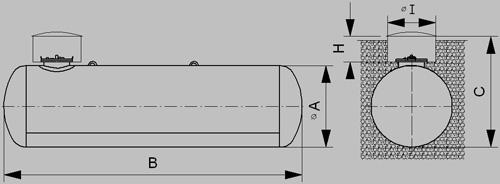 podzemný zásobník plyn 1600 - nákres