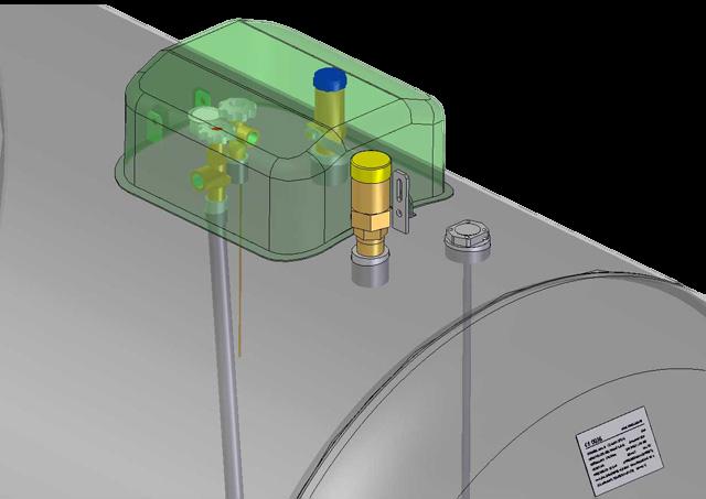 polopodzemný zásobník pre odber plynnej fázy